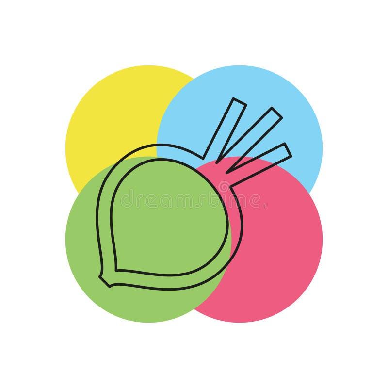 Wektorowa sugarbeet ilustracja odizolowywająca royalty ilustracja