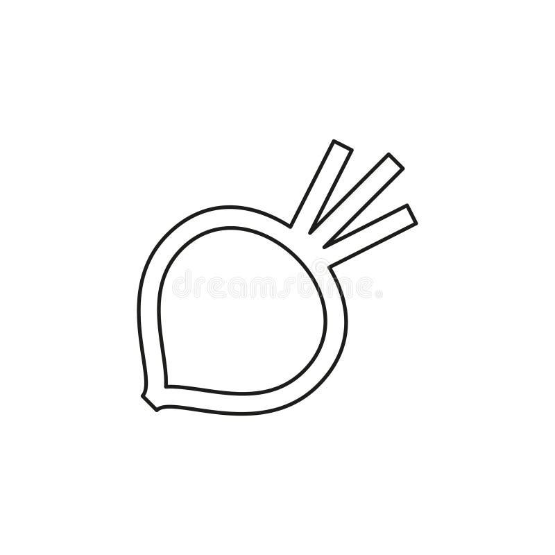 Wektorowa sugarbeet ilustracja odizolowywaj?ca royalty ilustracja