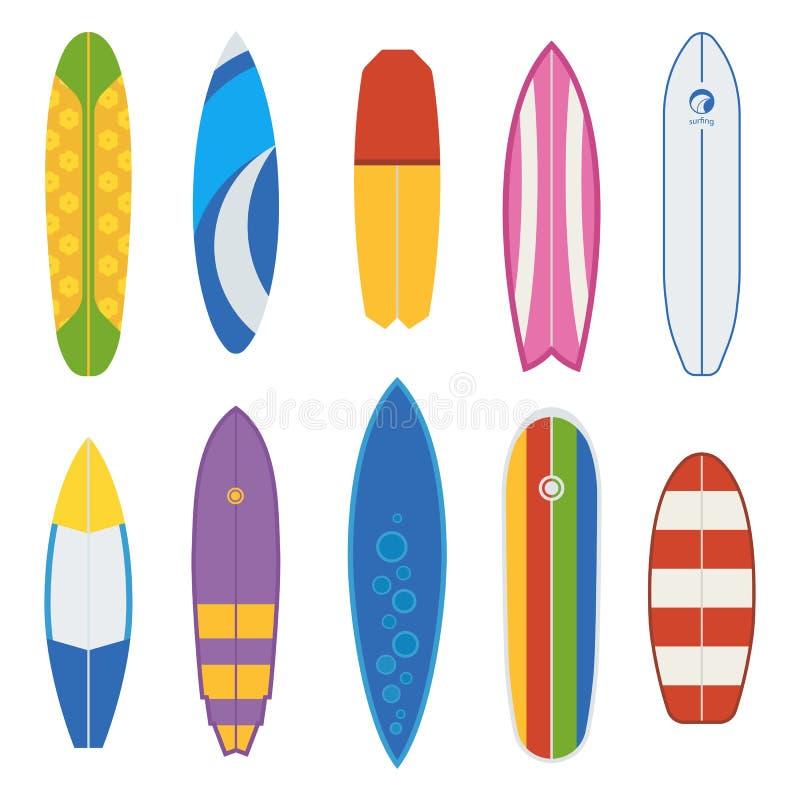 Wektorowa Surfboard kolekcja royalty ilustracja