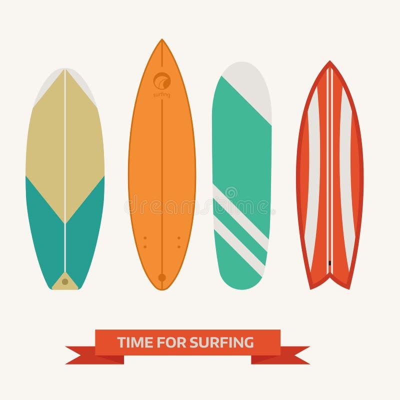 Wektorowa Surfboard kolekcja ilustracja wektor