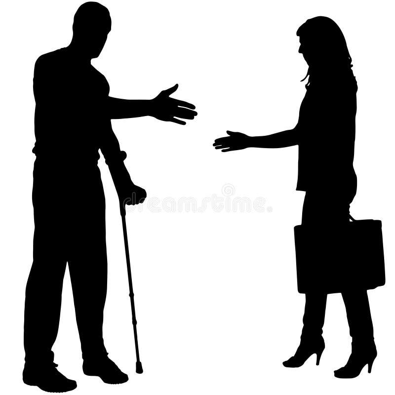 Wektorowa sylwetka bizneswoman ilustracja wektor
