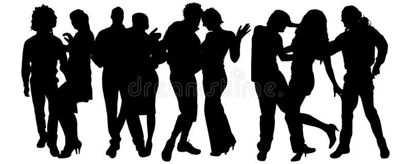 Download Wektorowa Sylwetka Grupa Ludzi Ilustracji - Ilustracja złożonej z dyrektor, szef: 57661432