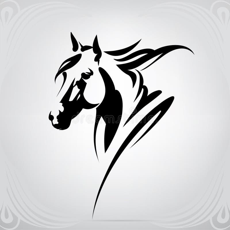 Wektorowa sylwetka końska ` s głowa ilustracji