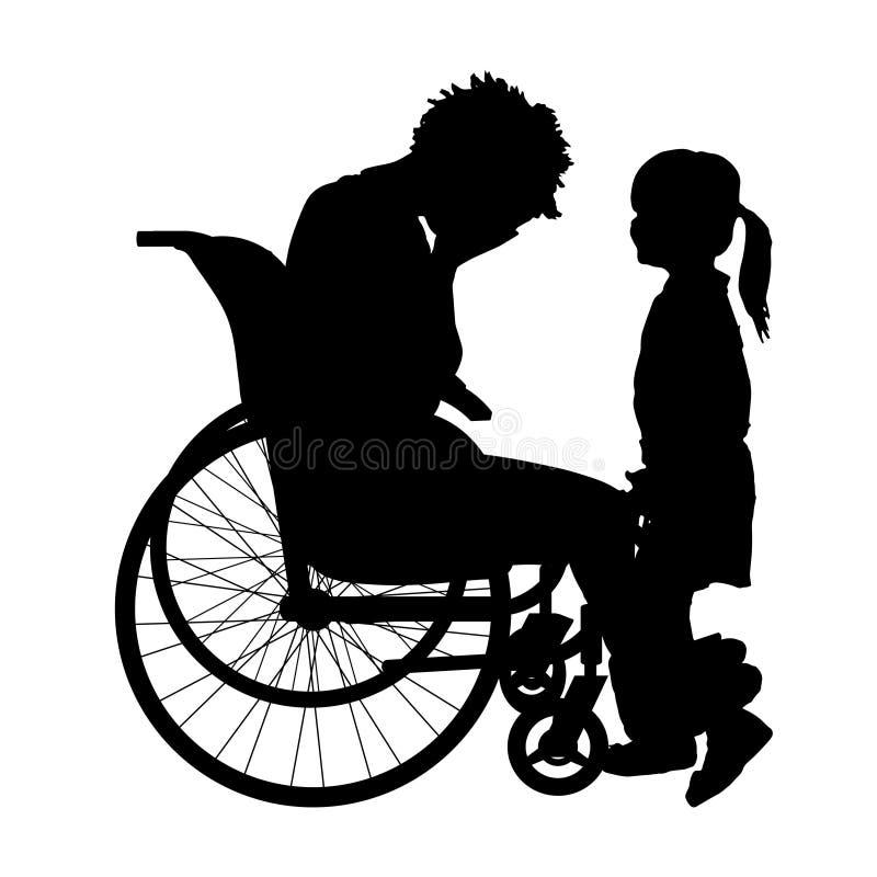 Download Wektorowa sylwetka kobieta ilustracji. Ilustracja złożonej z kalectwo - 57659056