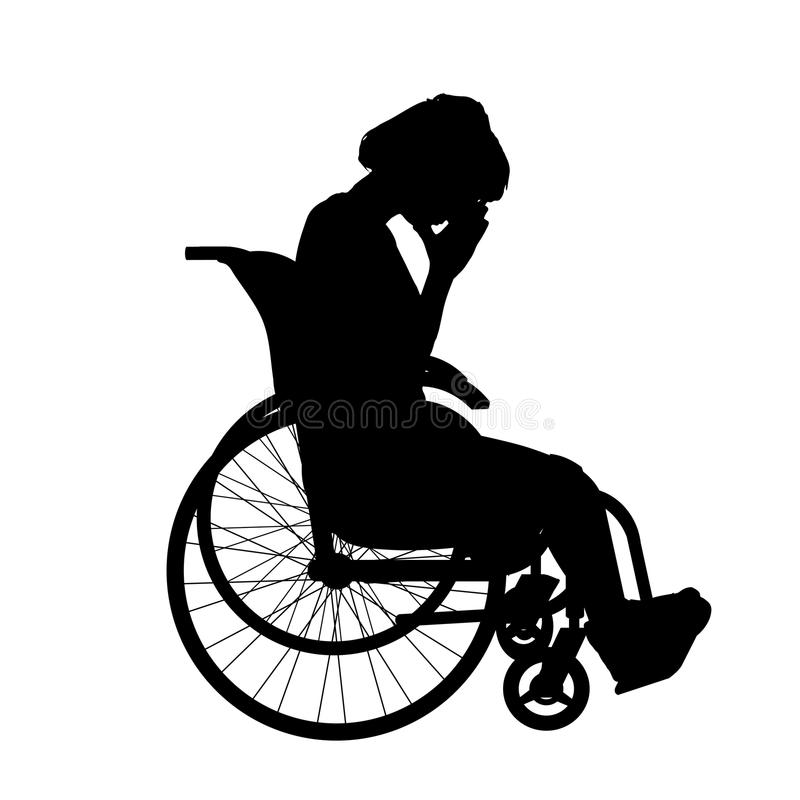 Download Wektorowa sylwetka kobieta ilustracji. Ilustracja złożonej z krzyk - 57661197
