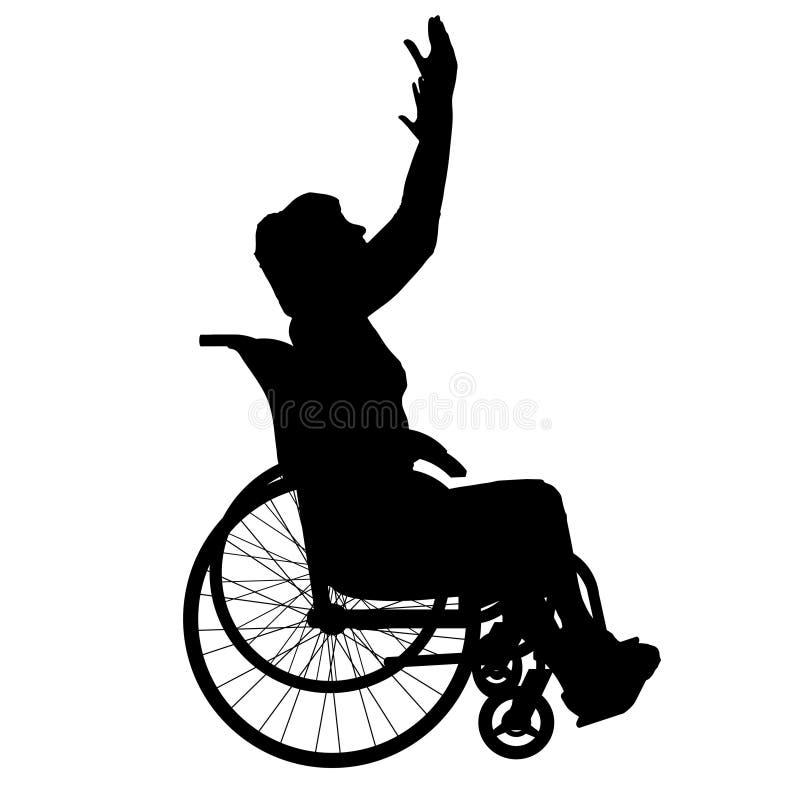 Download Wektorowa sylwetka kobieta ilustracji. Ilustracja złożonej z krzesło - 57661383