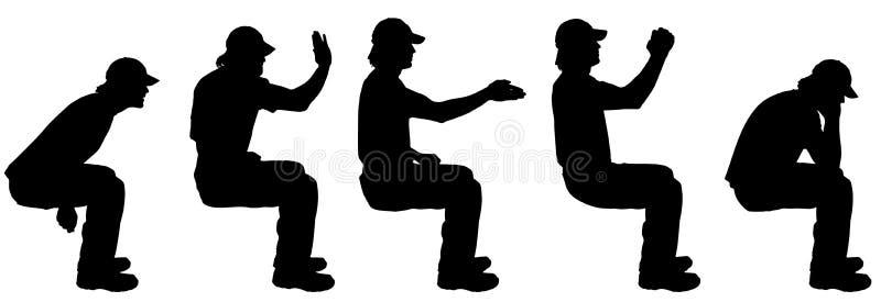 Wektorowa sylwetka mężczyzna ilustracja wektor