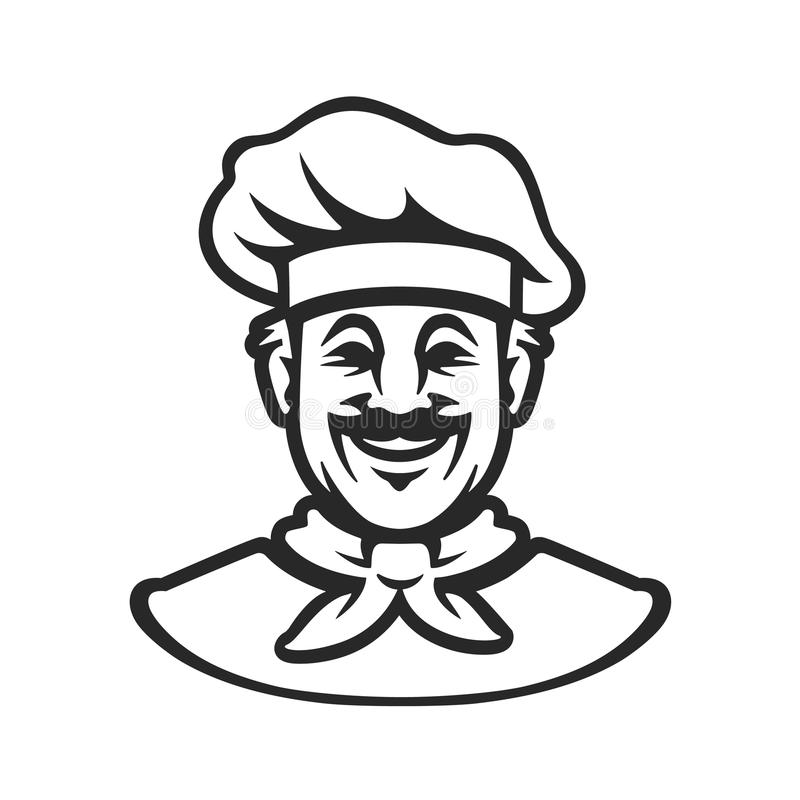 Wektorowa szef kuchni ikona ilustracji