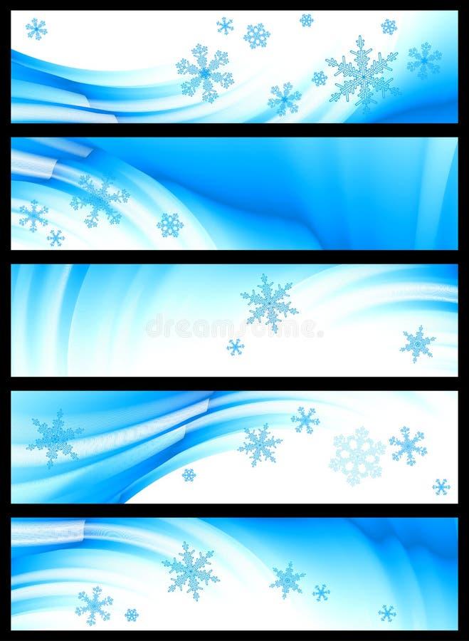 wektorowa sztandar zima ilustracji