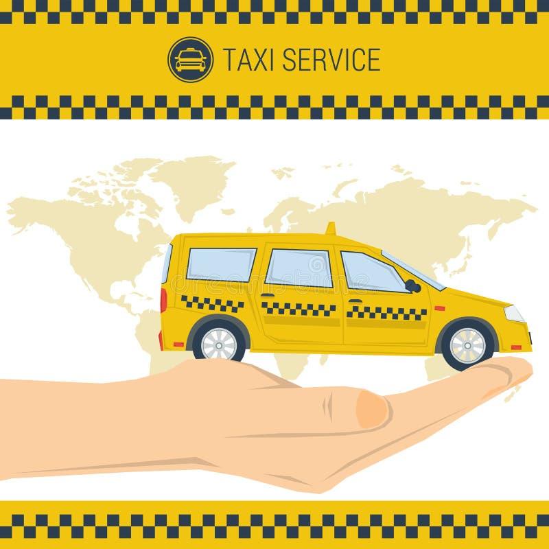 Wektorowa sztandaru taxi usługa royalty ilustracja