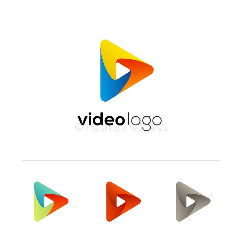 Wektorowa sztuki ikona Wideo podaniowy ikona projekta szablon Odtwarzacz muzyczny Papierowa origami kolekcja Podaniowa ikona ilustracja wektor