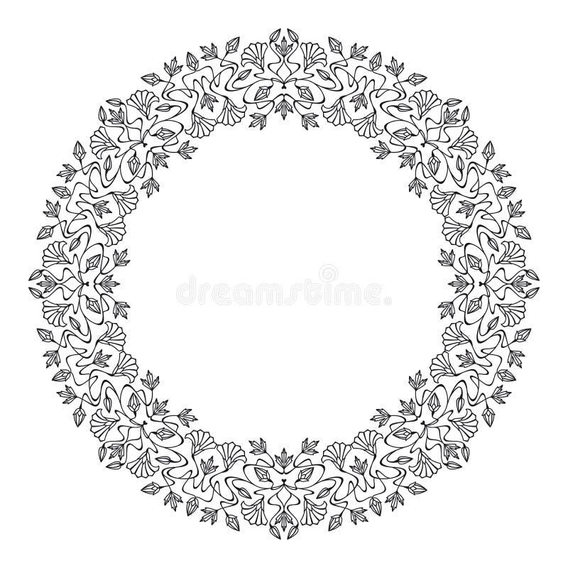 Wektorowa sztuki nouveau rama royalty ilustracja