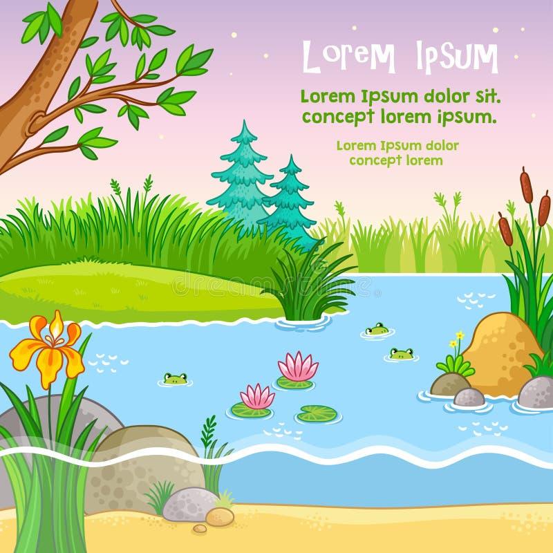 Wektorowa tło ilustracja z naturą ilustracja wektor