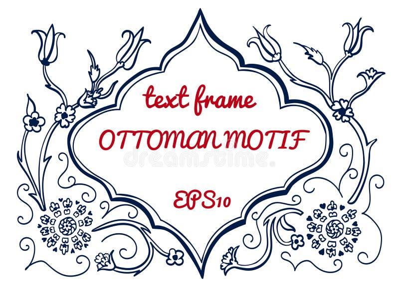 Wektorowa tekst rama w ottoman stylu ilustracji