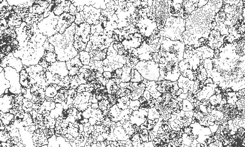 Wektorowa tekstura krakingowa powierzchnia z adra i plamami grunge tła abstrakcyjne Zakłopotana splatter narzuta royalty ilustracja