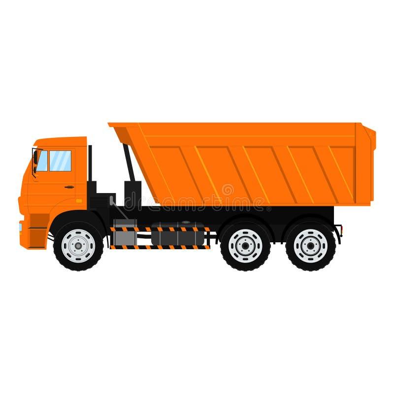 Wektorowa Tipper ciężarówka Usypu pojazd pojedynczy białe tło ilustracji