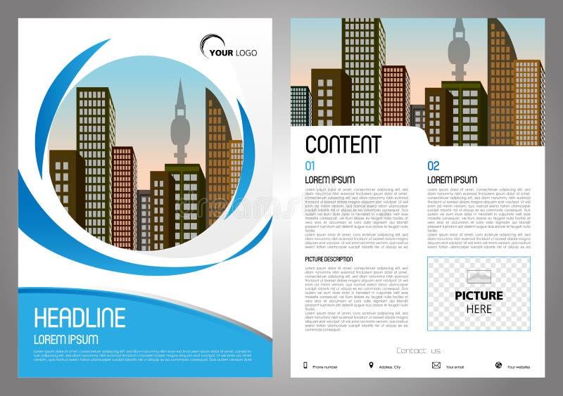 Wektorowa ulotka, korporacyjny biznes, sprawozdanie roczne, broszurka projekt ilustracja wektor