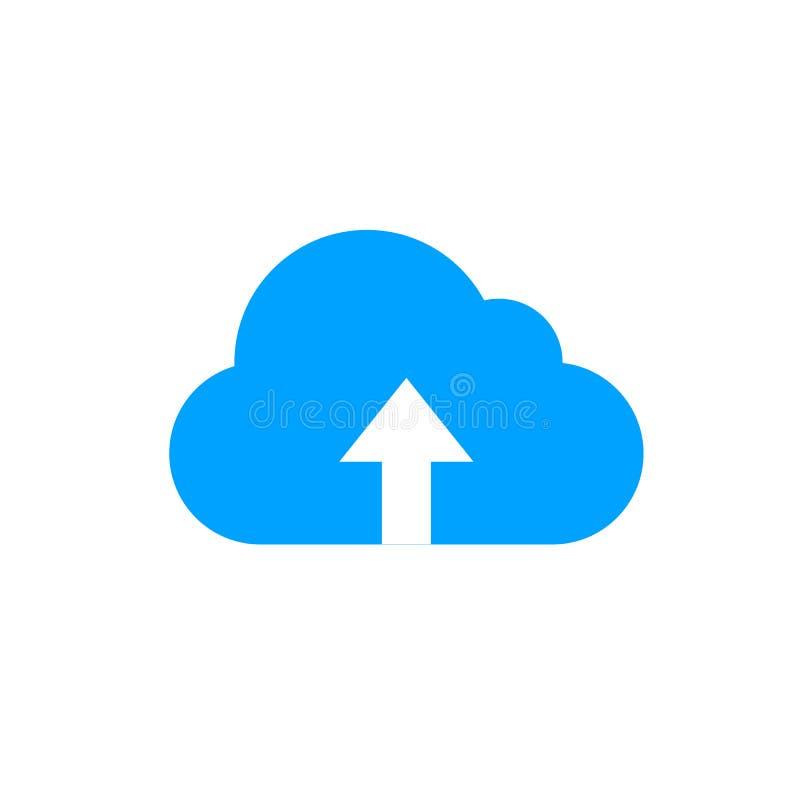 Wektorowa Upload ikona, chmura z strzała, Ładowniczy pojęcie, Isalated na Białym tle royalty ilustracja