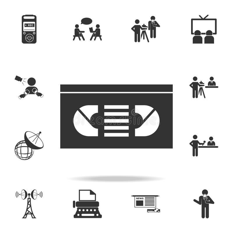 Wektorowa VHS taśmy ikona Szczegółowe ustalone ikony Medialna element ikona Premii ilości graficzny projekt Jeden inkasowe ikony  royalty ilustracja