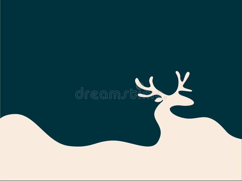 Wektorowa wakacyjna ilustracja w minimalizmu stylu ilustracja wektor