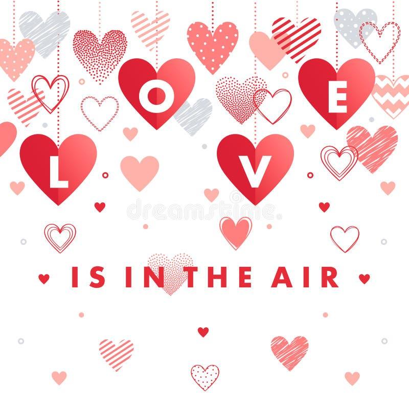Wektorowa Walentynek dzień karta ilustracji