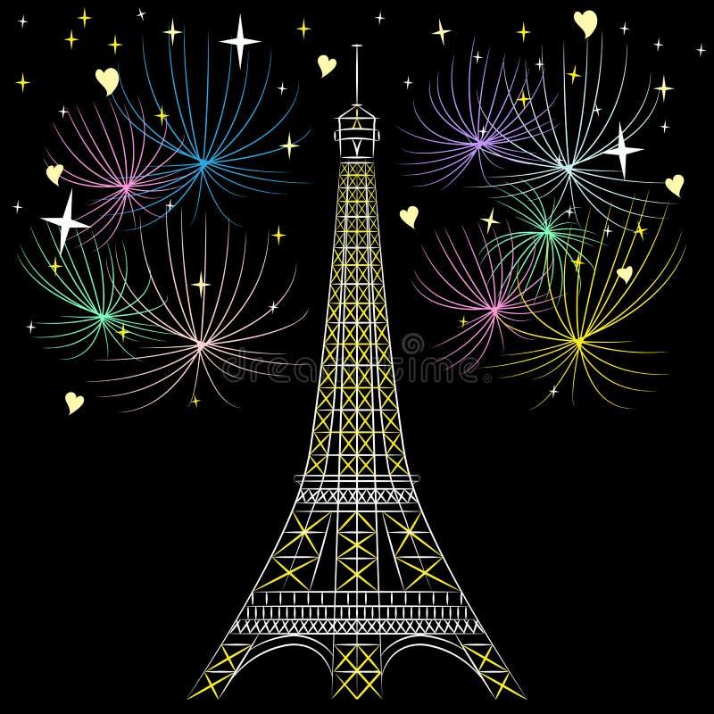Wektorowa wieża eifla w Paryż ilustracja wektor