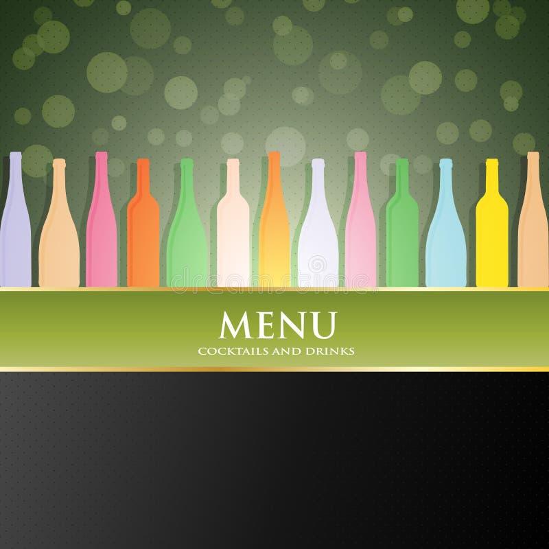 Wektorowa wino listy menu pokrywa ilustracji