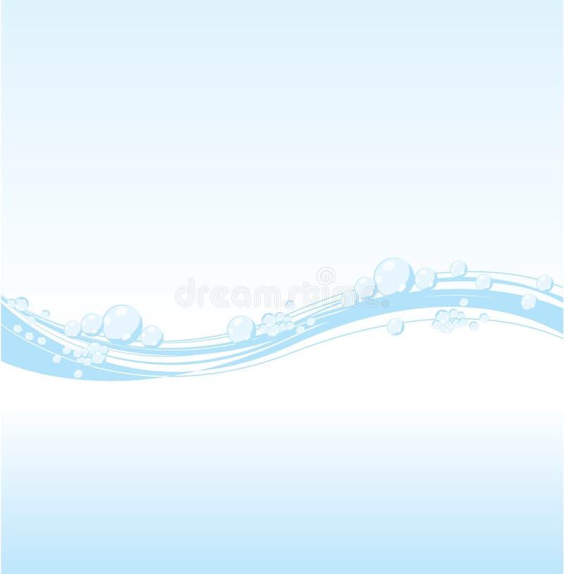 wektorowa wodna fala