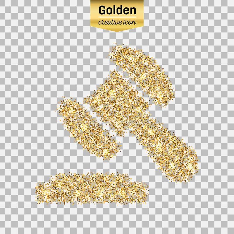 Wektorowa złocista ikona fotografia stock