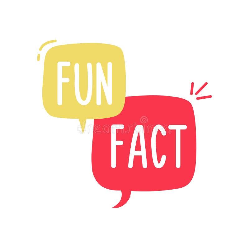 Wektorowa zabawa i rozochocona doodle mowa gulgoczemy z słowo zabawy fact Wektorowa pojęcie ilustracja ilustracja wektor