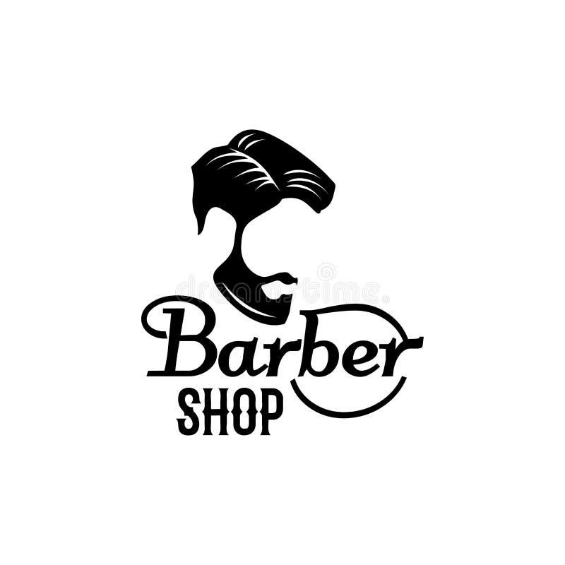 Wektorowa zakład fryzjerski brody wąsy głowy ikona ilustracja wektor