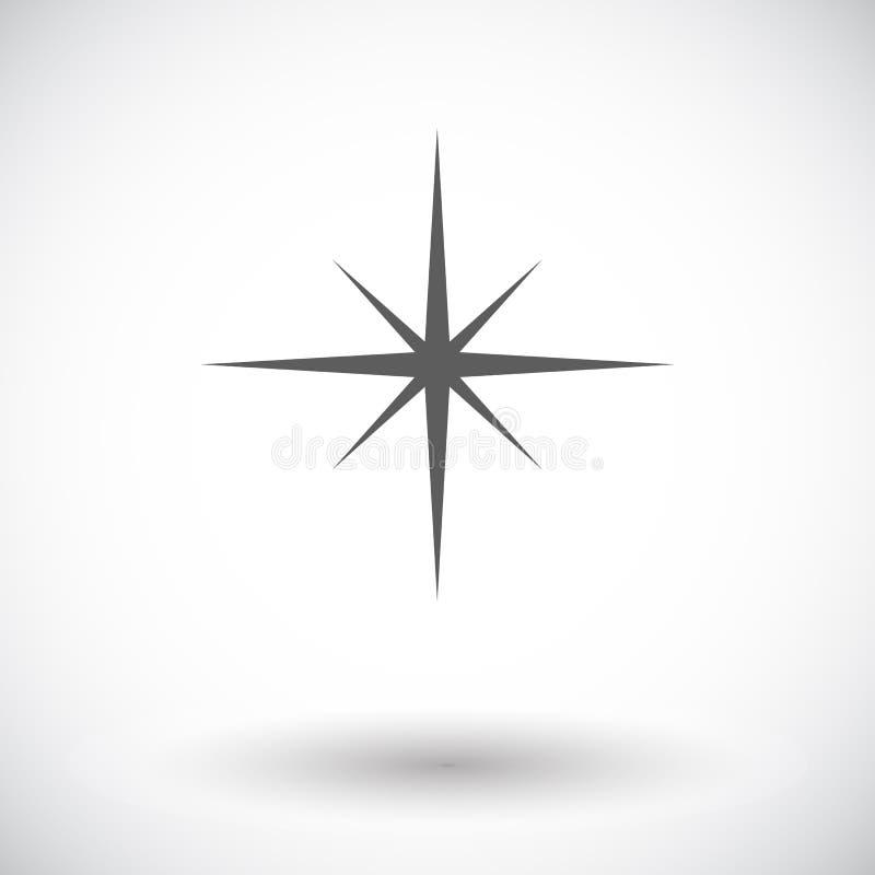 Wektorowa zielonego szkła gwiazda ilustracja wektor