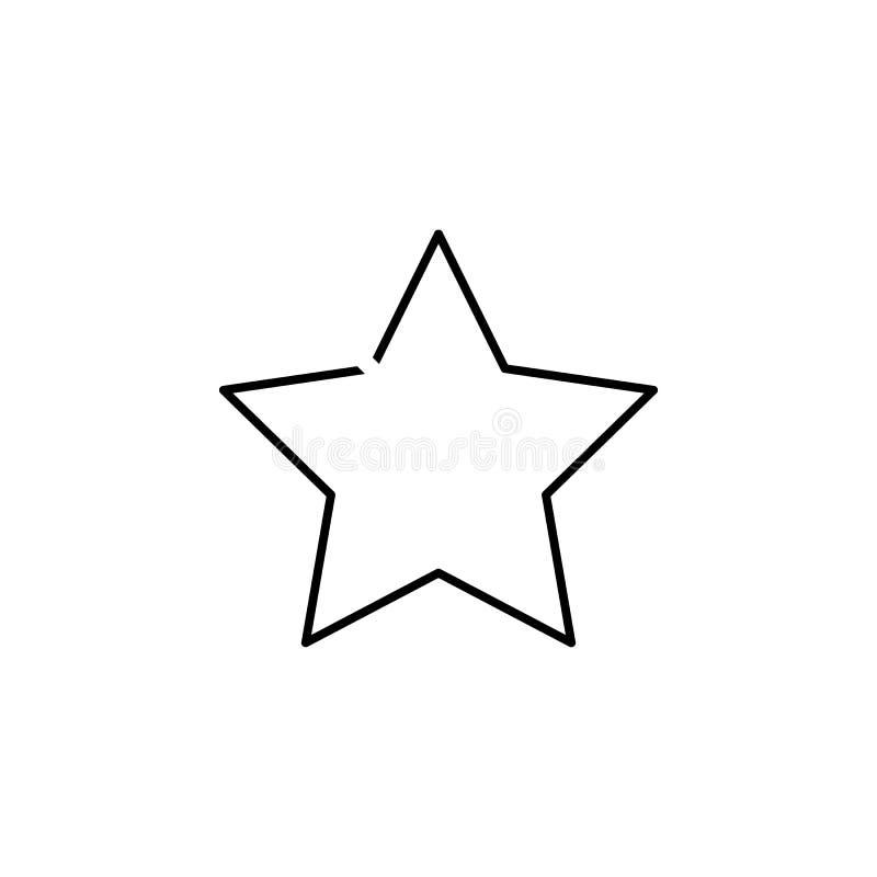 Wektorowa zielonego szkła gwiazda Element prosta ikona w materiału stylu dla mobilnych pojęcia i sieci apps Cienka kreskowa ikona ilustracji