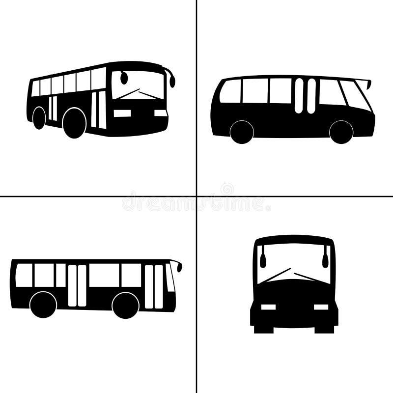 Wektorowe autobusowe ikony zdjęcia royalty free