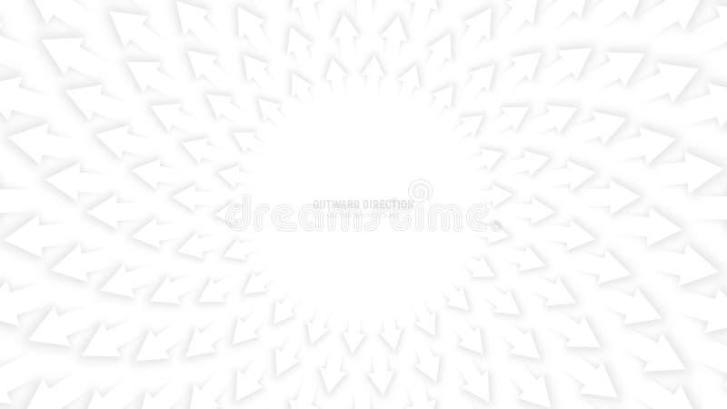 Wektorowe bielu 3D strzała ilustracja wektor