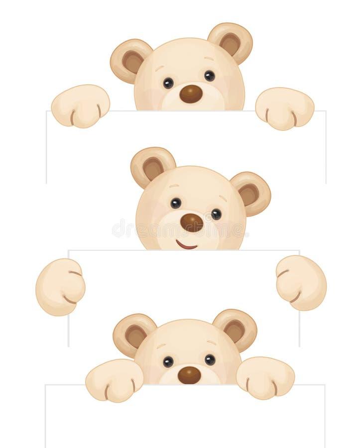 Wektorowe brown niedźwiedzi kreskówki royalty ilustracja