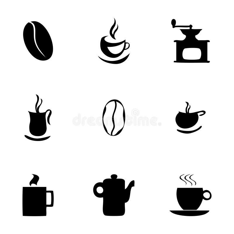 Wektorowe coffe ikony ustawiać royalty ilustracja