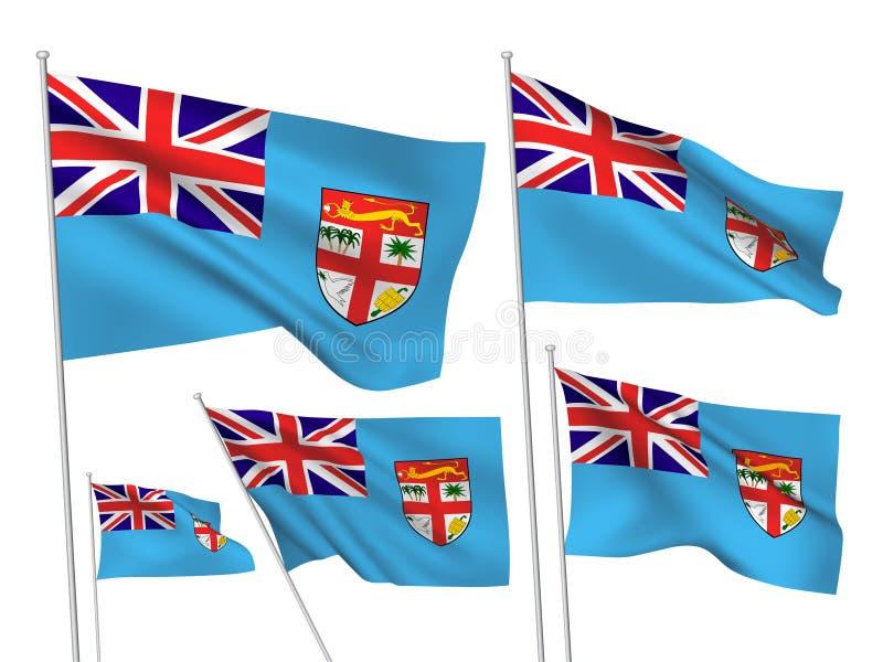 Wektorowe flagi Fiji royalty ilustracja