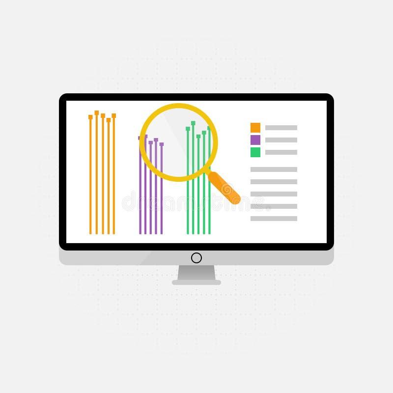 Wektorowe ikony i znaki zarządzania, marketingu i duża dane analiza i pieniężny biznes infographic dla pojęcia ilustracja wektor