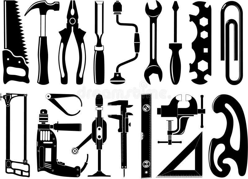 Wektorowe ikony instrumenty ilustracja wektor