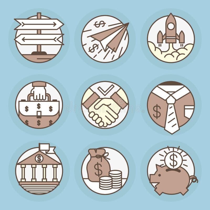 wektorowe ikony w nowożytnym liniowym stylu ilustracji