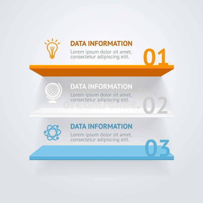 Wektorowe infografic półki ilustracji