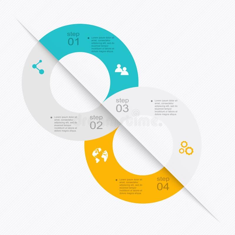 Wektorowe kolorowe ewidencyjne grafika dla twój biznesowych prezentacj ilustracji