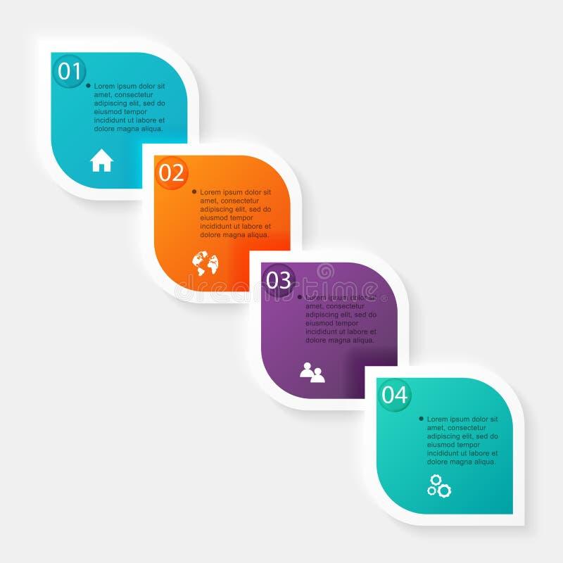 Wektorowe kolorowe ewidencyjne grafika dla twój biznesowych prezentacj ilustracja wektor