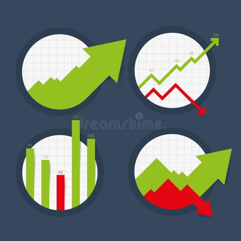 Wektorowe mapy, wykresy i statystyki, ilustracji