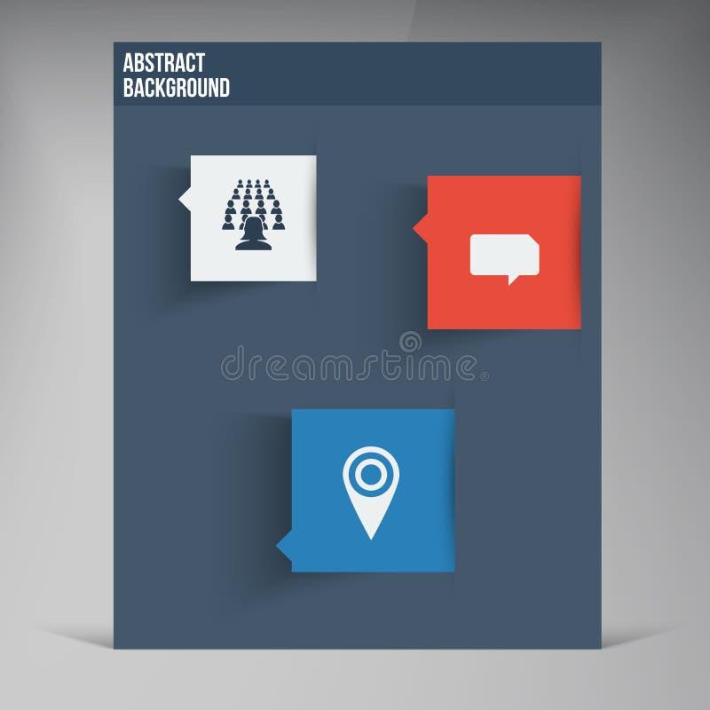 Wektorowe mieszkania UI projekta trendu ikony ilustracja wektor