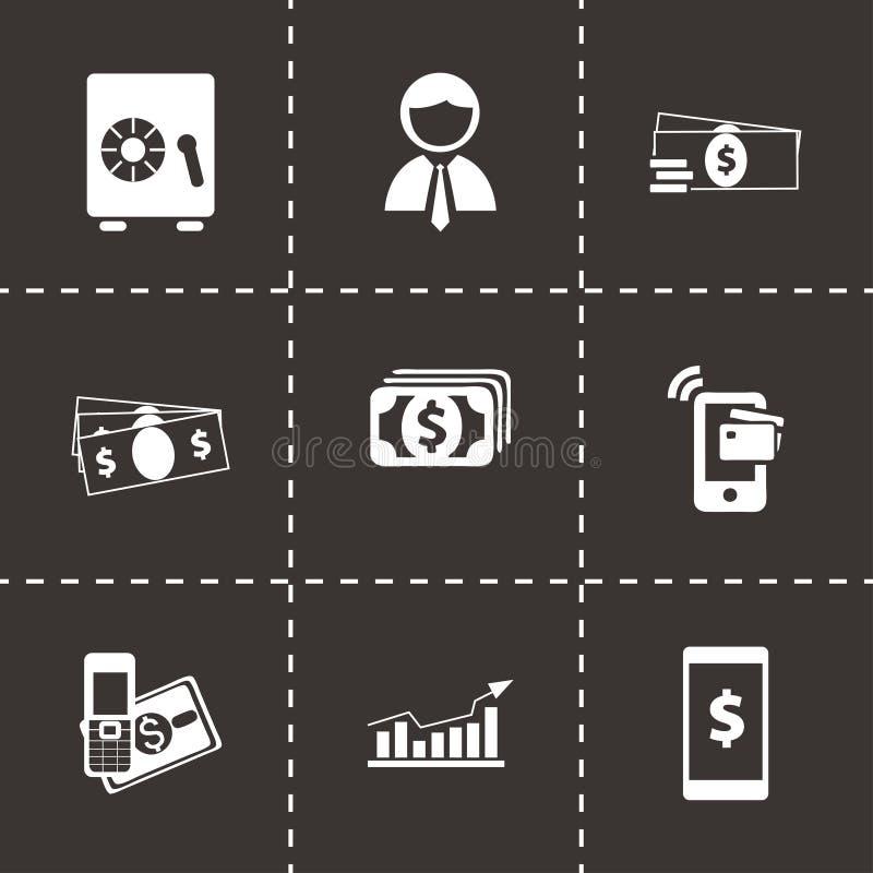 Wektorowe mobilne bankowość ikony ustawiać ilustracji