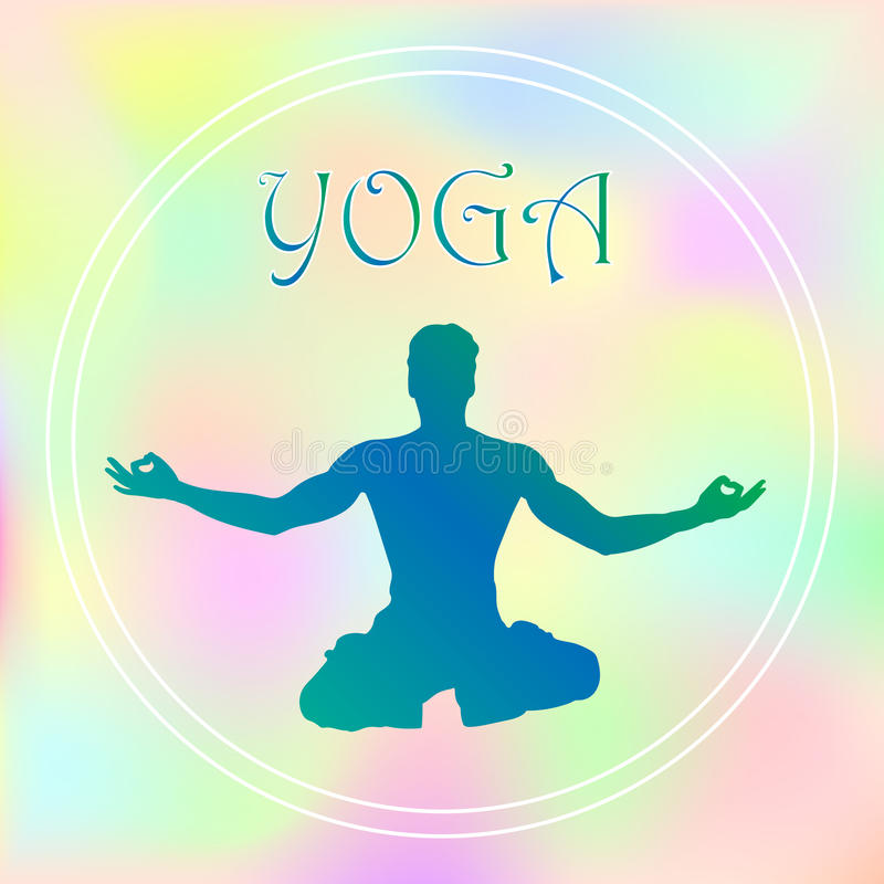 Wektorowe pociągany ręcznie joga pozy w z różnymi równoważenie pozycjami modlitwa i medytacja w lotosie pozują zdrowie i sprawnoś royalty ilustracja