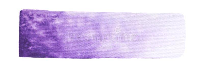 Wektorowe purpury malują teksturę odizolowywającą na bielu - akwarela horyzontalny sztandar dla Twój projekta ilustracja wektor