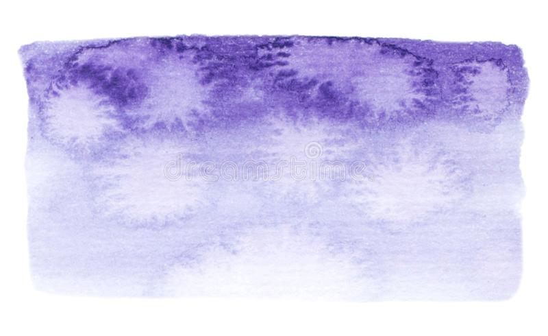Wektorowe purpury malują teksturę odizolowywającą na bielu - akwarela sztandar dla Twój projekta royalty ilustracja